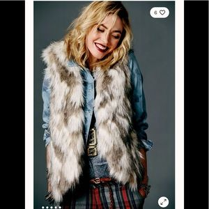 Free People Call of the Wild Fur Vest xs